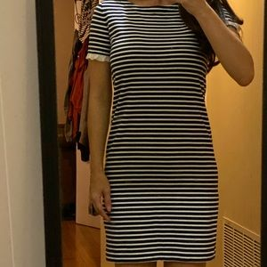 Navy Striped J Crew Dress